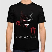 Being Bad Rules Mens Fitted Tee Black SMALL