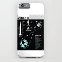 iPhone Cases featuring Apollo 11 Mission Diagram by Nick Wiinikka