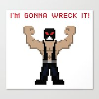 Canvas Print featuring Bane's Gonna Wreck It by LegoBatman