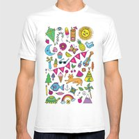 Summer Fun Mens Fitted Tee White SMALL