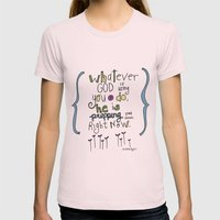God's Prepping You Womens Fitted Tee Light Pink SMALL
