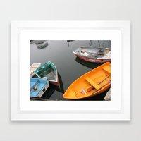 Rockport Rowboats 2 Framed Art Print