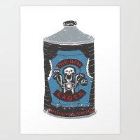 Die Hard Lager Art Print