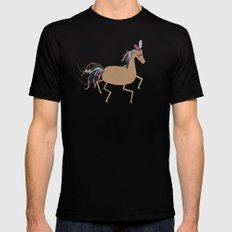Horse SMALL Black Mens Fitted Tee
