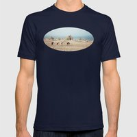 Oregon Wilderness Horses Mens Fitted Tee Navy SMALL