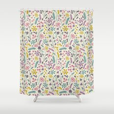 Retro Blooms (Candy) Shower Curtain