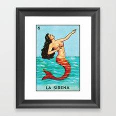 6 La Sirena Framed Art Print