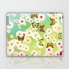 Daisies and butterflies Laptop & iPad Skin