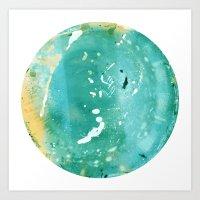Blue Fantasy Planet Art Print