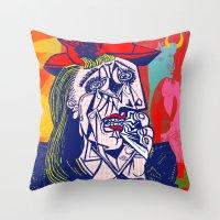 Weeping Woman #3 Throw Pillow