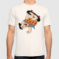 Shred Flintstone Mens Fitted Tee Natural SMALL
