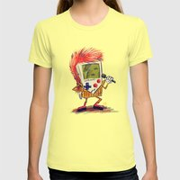 Game Bowie Womens Fitted Tee Lemon SMALL