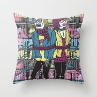 KILL ALL THE HIPSTER Throw Pillow