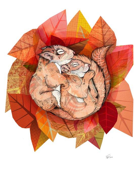 Squirrel Spoon Canvas Print