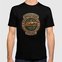 The Awaken Sheep Mens Fitted Tee Black SMALL