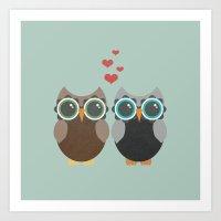OWL LOVE YOU FOREVER Art Print