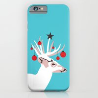 iPhone & iPod Case featuring Deer with Cheer by Hello Narwhal