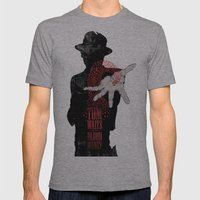 Tom Waits Mens Fitted Tee Athletic Grey SMALL