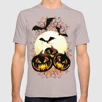 Black Pumpkins Halloween Night Mens Fitted Tee Cinder SMALL