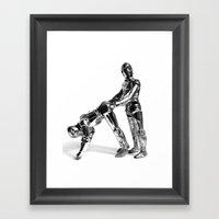 Droid Buttseks Framed Art Print