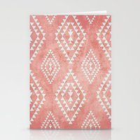 Mint & Coral Tribal Patt… Stationery Cards