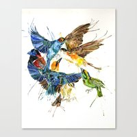 Birds Galore Canvas Print