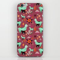 Llama At Dusk Pattern iPhone & iPod Skin