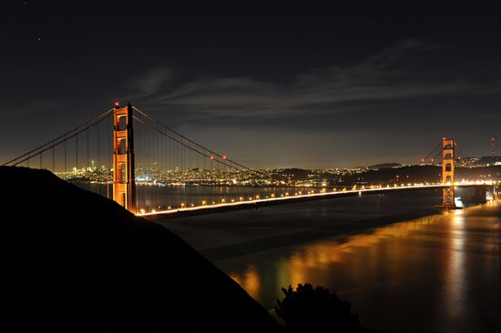 Golden Gate Bridge @ Night Art Print