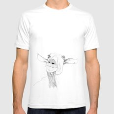 Goat Mens Fitted Tee White SMALL