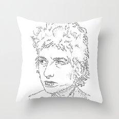 Bob Dylan WordsPortrait  Throw Pillow