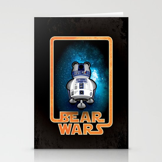 Bear Wars - GRRR2D2 Stationery Card