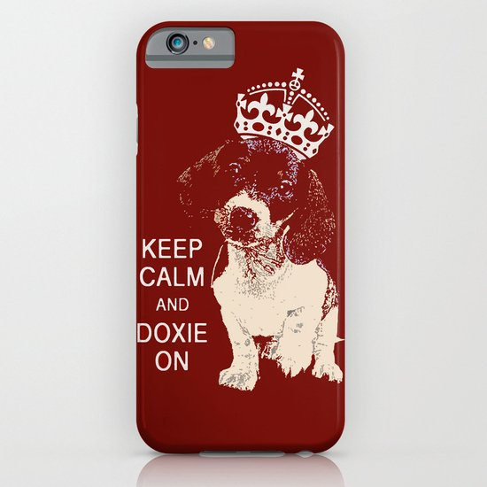 Keep Calm & Doxie On iPhone & iPod Case