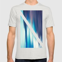 Abstract II Mens Fitted Tee Silver SMALL
