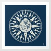 Sailors Compass Art Print
