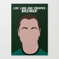 Live Long And Prosper, B… Canvas Print