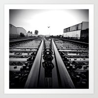 Art Print featuring Gritty City railway by Vorona Photography