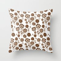 Free The Flowers Throw Pillow