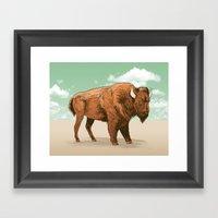 Buffalo Sky Framed Art Print