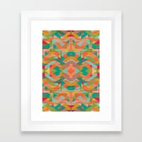 Aztek Pattern Framed Art Print