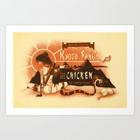 Kyoto Fang's Chicken Art Print