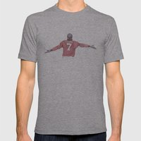 Eric Cantona Mens Fitted Tee Athletic Grey SMALL