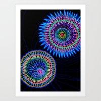 Virus War Color Art Print