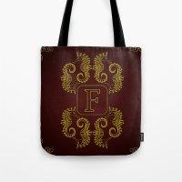 Monogram F Seahorse Tote Bag