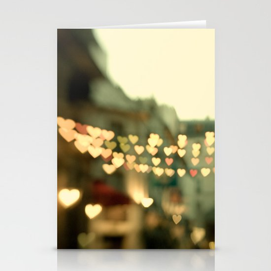 Looking for Love - Paris Hearts Stationery Card