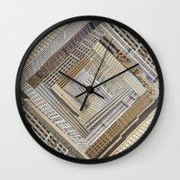 Skyscraper Quilt Wall Clock