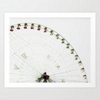 Hand Colored Ferris Art Print