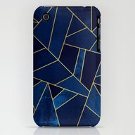 Blue Stone With Gold Lin… iPhone (3g, 3gs) Slim Case