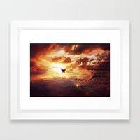 Ad lucem (Towards the light) Version 3 Framed Art Print