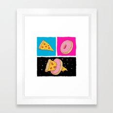 Pizza & Donut Framed Art Print