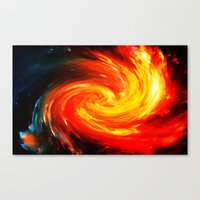 Storm In The Galaxy - Pa… Canvas Print